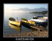 Ruderboote am Chiemsee